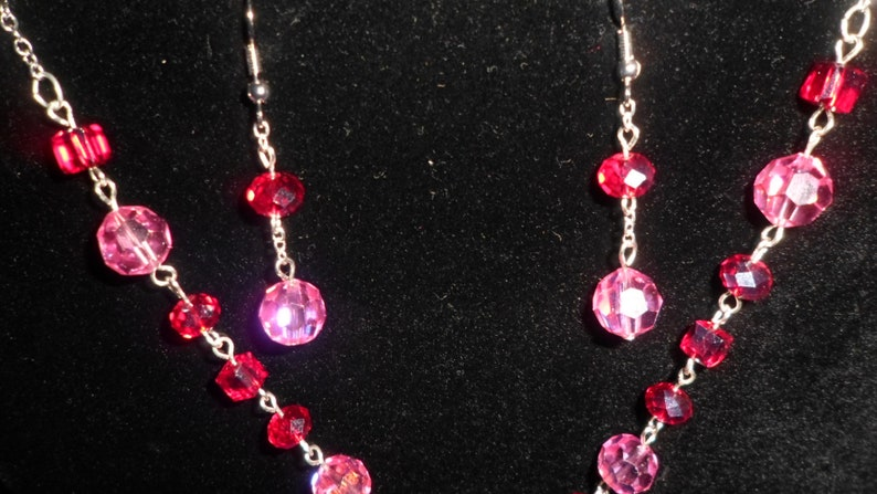 Ornate Cross Necklace and earring set.