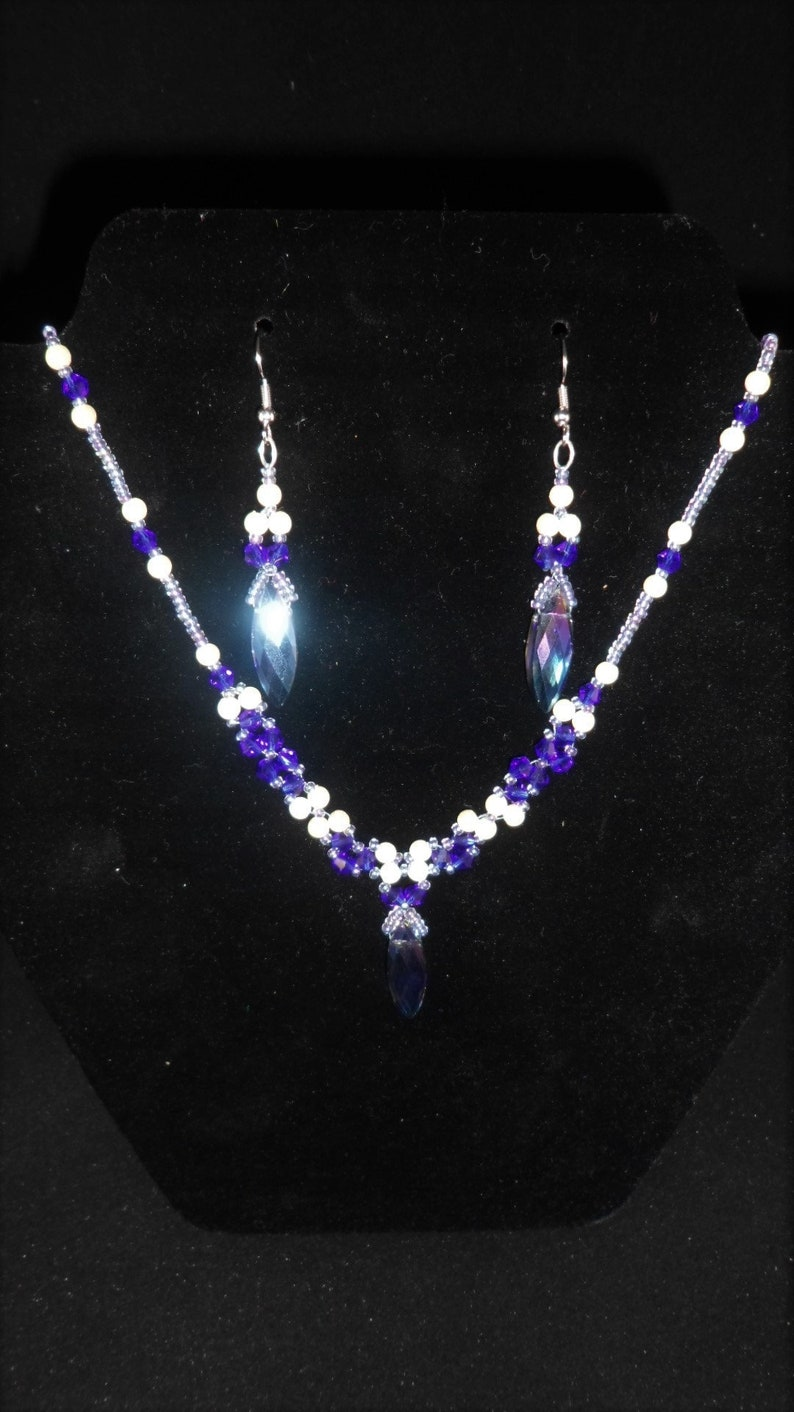 Midnight Song necklace and earrings