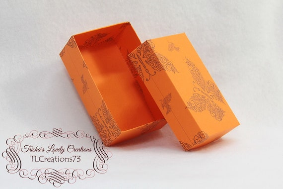 Diy Box Gift Box Paper Box Box Template Printable Gift Box Small Rectangle Jewelry Box