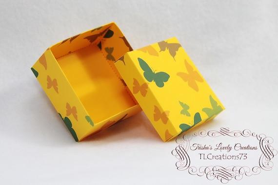 Diy Box Gift Box Paper Box Box Template Printable Gift Box Small Square Jewelry Box