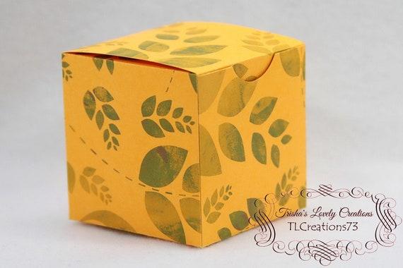 Diy Box Gift Box Paper Box Box Template Printable Gift Box Hinged Lid Cube Box