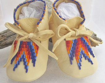 Fun Costumes Kids Realistic Native American Moccasins Shoes Medium