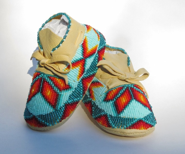 Shoes Boys Moccasins Unisex Authentic Native American Made Etsy