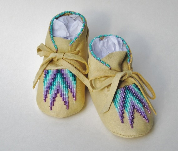 Christmas Gift Native American Moccasins Purple Lavender Etsy