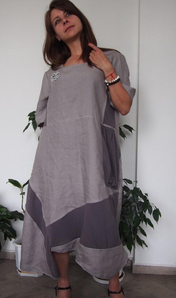 Floral Plus Extravagant Sleeve Asymmetric Loose LR009 Linen Dress amp; Short Nara Maxi Dress Dress size motiv TnHqgwPpqx