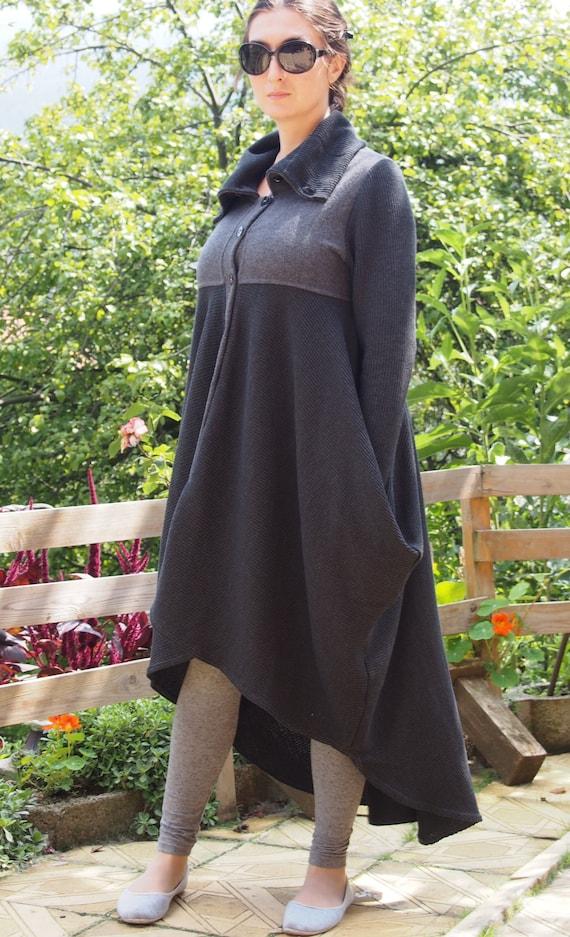 Cashmere DP008 Coat Extravagant Nara Wool amp; Playful Coat Asymmetric Long zRtxTwfzq