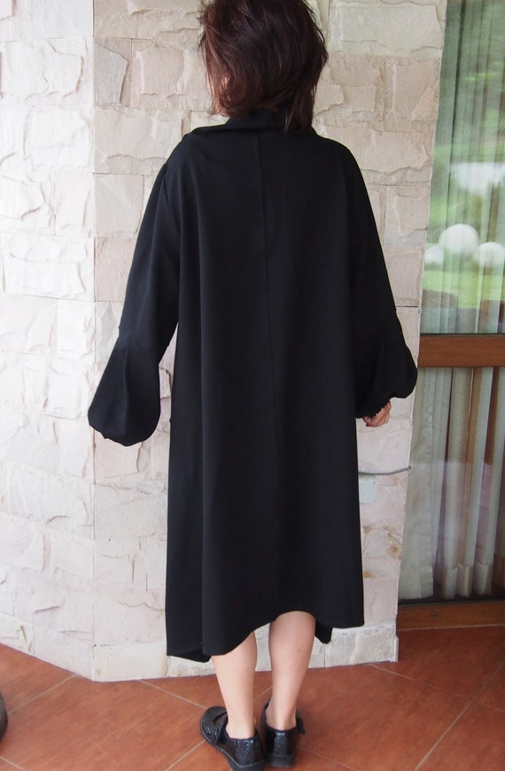 Long Maxi Dress Party amp; Dress Dress Sleeve dress Black Long Nara DR057 Dress Loose Dress rxarqfz