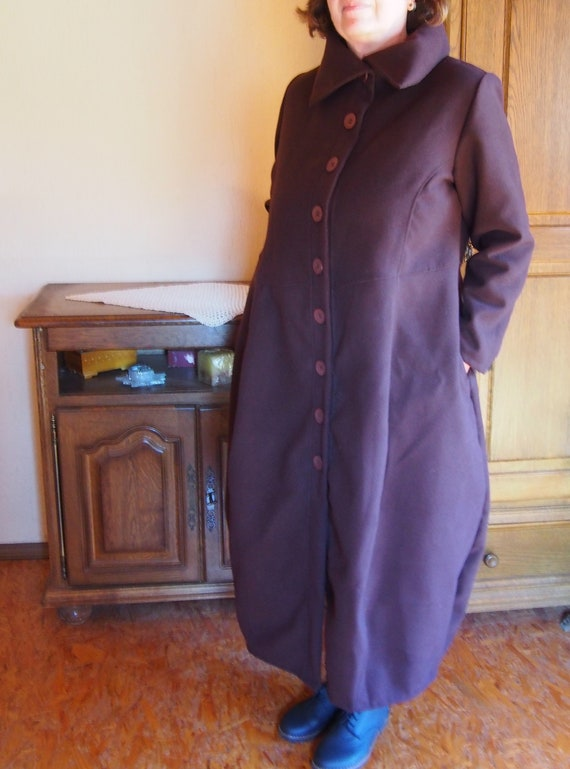NEW LADIES WINTER WARM WOOL CASMERE HOODED LONG COAT UK MADE 10 TO 24