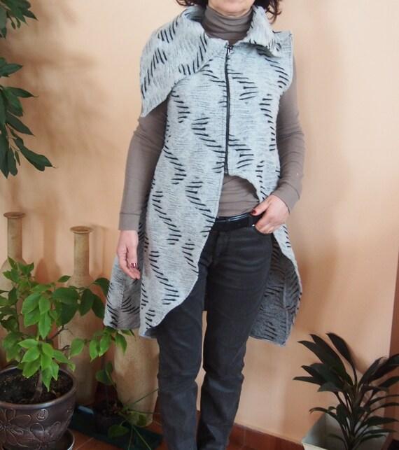 EL001 Wool Long amp; Without Wool Asymmetrical Nara Vest Sleeves Cardigan UwUAqXrz