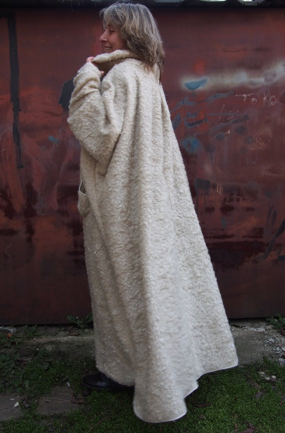 Size DP010 amp; Coat Long Nara Coat Wool Cardigan Plus Wool Knitted Maxi 1wpqPt