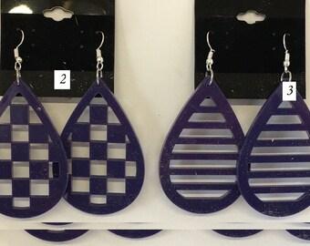 Acrylic Earrings (purple)