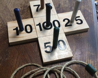 Ring Toss Game (traditional peg & ring game)