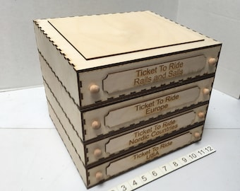 Modular Game Storage - The Ticket To Ride Series