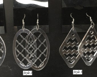 Acrylic Earrings (transparent)