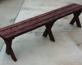 Picnic Bench. 6 ft x 1 ft. 18 inches high.