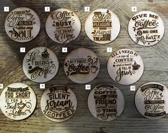 Holiday Pricing - Coffee Laser Engraved Coasters