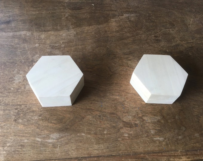 Featured listing image: Small Hexagonal Storage Box for Rings, Cufflinks, etc.