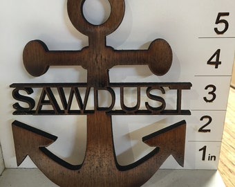 Personalized Anchor Sign (Celebrate your inner pirate or sailor)