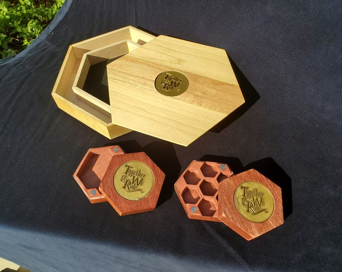 Featured listing image: Together We Role Dice Boxes and Roll Trays