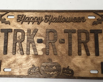 License Plate Sign for Halloween