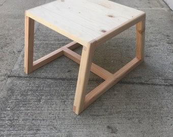 Large, Simple stool, table, step stool  (20 x 16 x 12)
