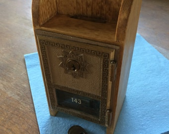 Vintage Post Office Box Coin Bank