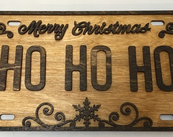 License Plate Sign for Christmas