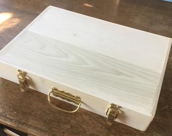 Deep Wooden Briefcase
