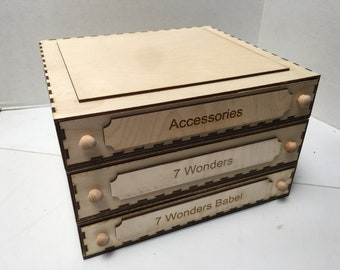 Modular Game Storage - The 7 Wonders Series