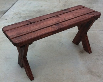 Picnic Bench. 2 ft x 1 ft. 18 inches high.