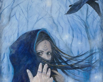"""Morgan the Faery-Reproduction Giclee on canvas 24""""x 48"""""""