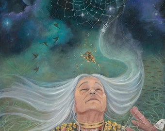 """Grandmother Spider - The Weaver - 8""""x12"""" signed Limited edition on fine art paper"""