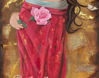 "Mariamne of Magdala -The Magdalene -6"" x 9 "" Greeting Card - Blank inside, description on back"