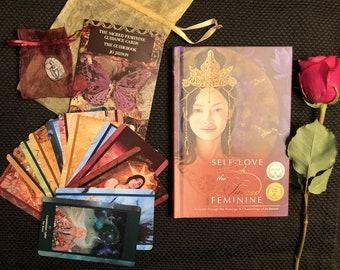 Book and Oracle Deck Set - The Sacred Feminine Guidance Cards (oracle deck) and Guidebook plus Book : Self-Love through the Sacred Feminine