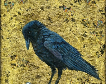 """The Raven - Fine Art Giclee Print - 7'x7"""" - Signed Limited Edition"""