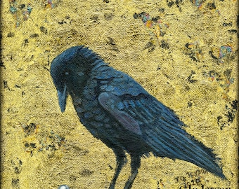"""The Raven -  Reproduction Giclee Print on Canvas - 8'x8"""""""