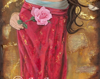 """Mariamne of Magdala The Magdalene 14"""" x 28"""" Signed Limited Edition Giclee on Fine Art Paper"""