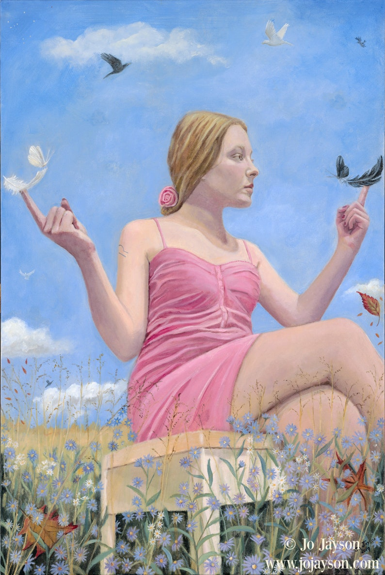 Libra  The Peacemaker  Original Painting oil on canvas  image 0