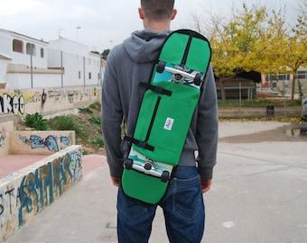 """Skateboard backpack bag for skate from 7.5 """" to 8.25"""" - Green"""