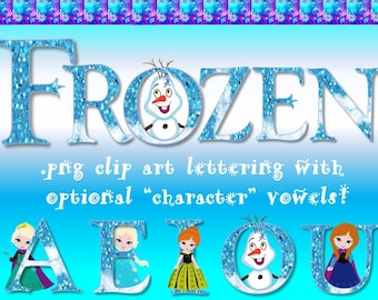 FONTS - Disney's Frozen Inspired Digital Font - Personal & Commercial use