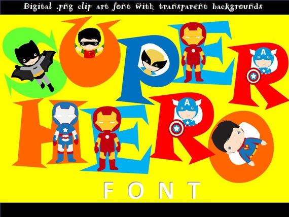 Schriftarten Superhelden-Schriftzug | Etsy