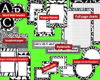 WILD THING Theme Decor Kit - Classroom, Homeschool, Fun Things for Kids