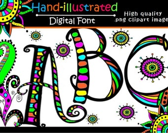 FONTS - Doodle Font2 - Commercial and Personal use