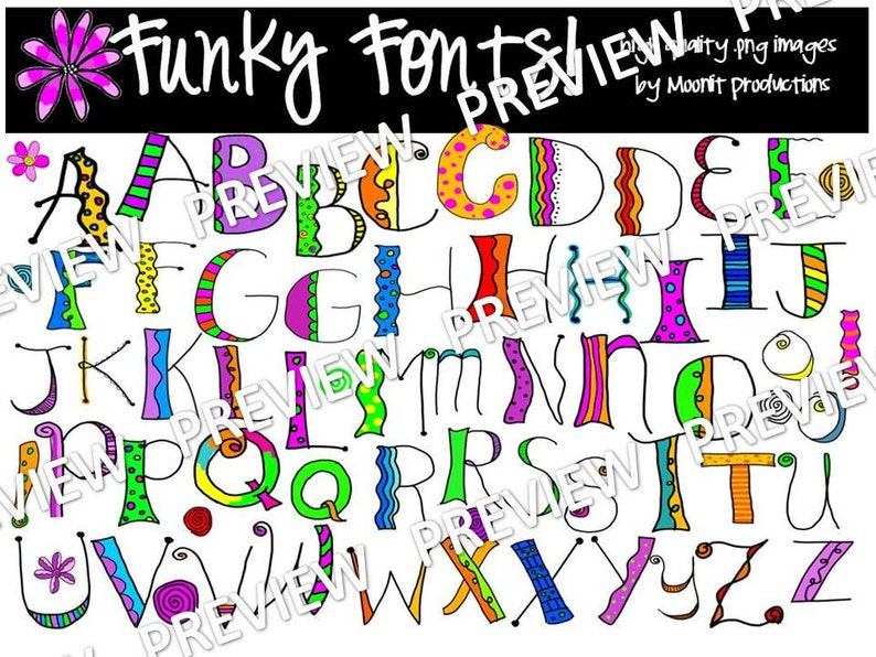 Download Funky Fonts COMBO PACK | Etsy