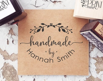 Personalized Name Stamp Crafter Stamp Custom Handmade By Wood Stamp Handmade By Stamp Etsy Stamp with Website Business Name Stamp