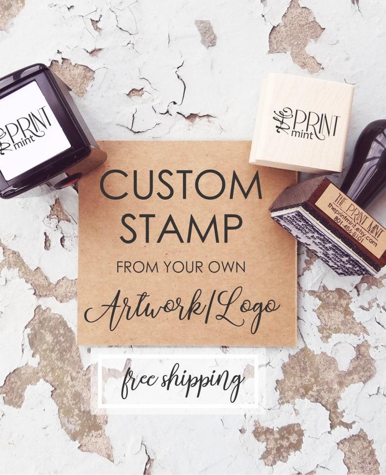 a816978de8 Custom Stamp, Custom Logo Stamp, Business Card Stamp, Personalized Branding  Stamp, Wedding Logo Stamp for Favors, Custom Rubber Stamp,