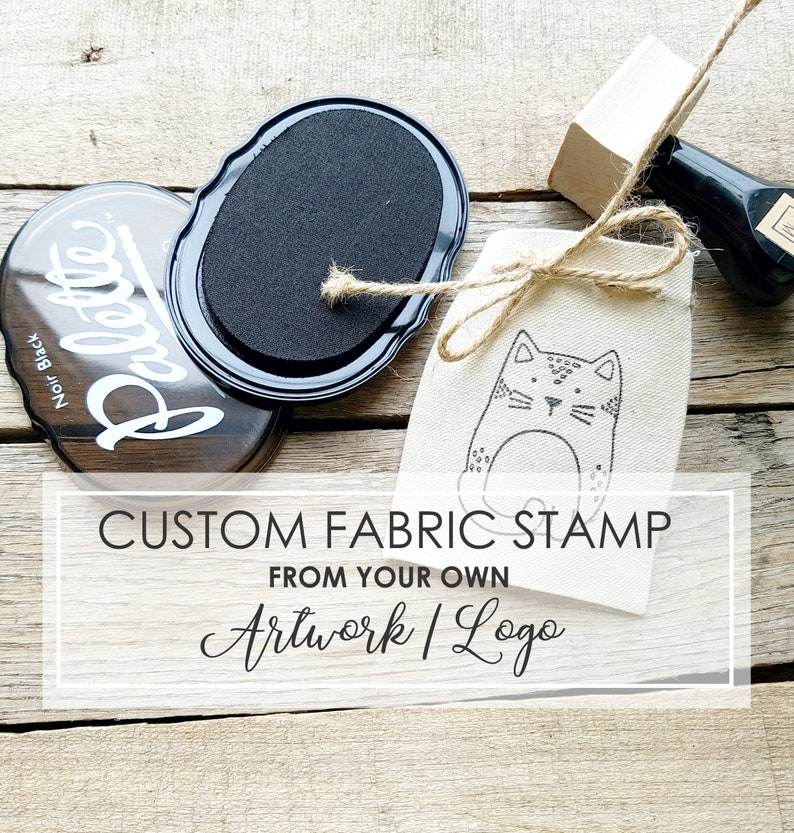 Custom Fabric Stamp of Your Logo or Image Clothing Stamp Kit image 0