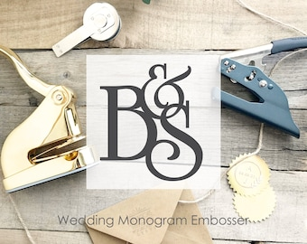 Wedding Embosser- Monogram Embosser Stamp- Custom Embosser Stamp-  Personalized Embosser - Envelope Embosser- Wedding Seal Stamp- CS-10287