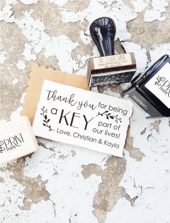 Key Wedding Favors Tag Rubber Stamp Love Is The Rustic