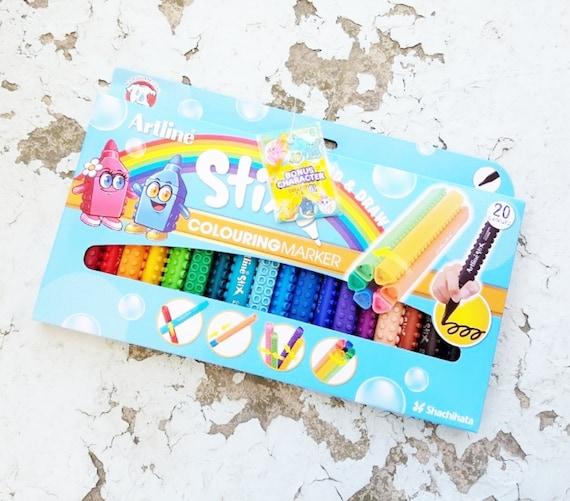 Artline Coloring Markers Kids Marker Set Lego Markers | Etsy